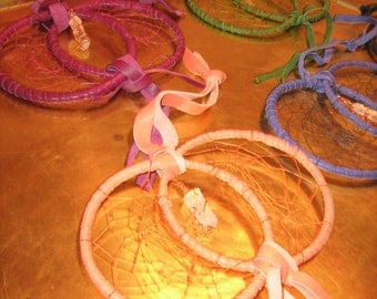 Dreamcatcher Kit, available in assorted colors,includes leather strips and thread only