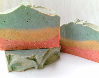 1969 Goat Milk Soap with Essential Oil, Olive Oil, Shea Butter, Rice Bran Oil. Scented with Nag Champa, Patchouli, and Sandalwood