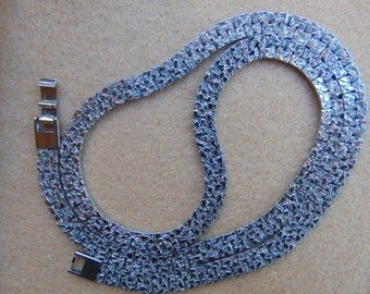 Big Hugh Silver Tone Flat Link Chain