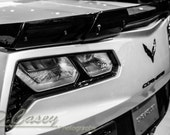 Corvette z06, Photography, fine art Photography, Black and white, wall art, home décor, car photography, vintage, truck, auto, gift, print