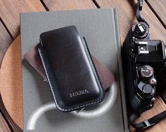 Black Horween Chromexcel iPhone 6 Leather Case Sleeve