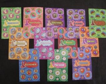 Scratch N Sniff Stickers - STINK FACTORY - 12 sheets - Lot 2 - Scrapbook - Teacher