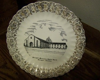 Vintage Church Plate Springhill Missionary Baptist Church Plate Springhill Louisiana Plate