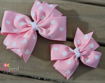 Pink Valentine's Day Pinwheel Bow