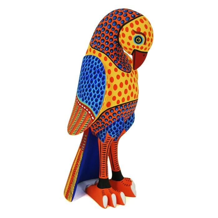 Luis pablo alebrije oaxacan wood carving bird sculpture