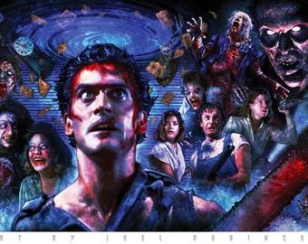 Evil Dead 11X17 Signed Poster