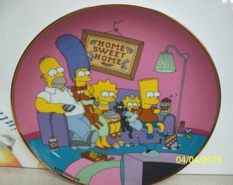 the simpsons collectors plate