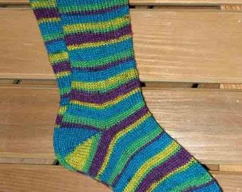 Socks in Mardi Gras Colors (111114)