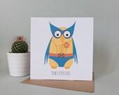 Owlverine Greetings Card (Wolverine)