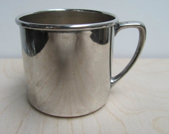 Vintage silver plated baby cup