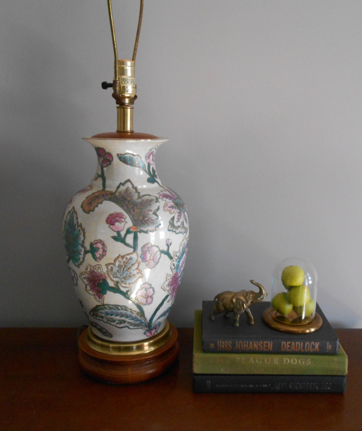 Vintage frederick cooper table lamphollywood regency zoom geotapseo Image collections
