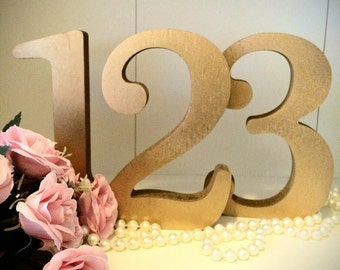 Wedding Table Numbers 1-20