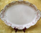 Just Reduced!Theodore Haviland Antique Oval Serving Platter Limoges France circa 1900