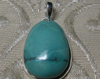 GET 15% OFF Natural Turquoise Sterling Silver Pendant