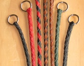 Design Your Own - Dog Show Slip Lead Braided Kangaroo Leather Personalised - Custom Made to Order - Lead On Sherry