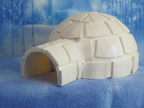 Igloo for Winter Wonderland Fairy Garden OOAK, handmade miniature, Christmas, North Pole