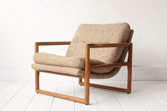 Mid Century Oak Sling Lounge Chair