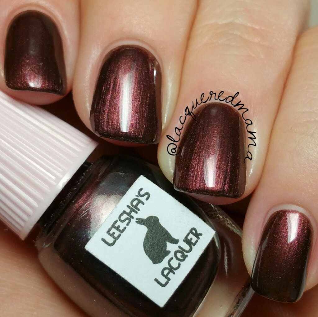 Nail Colors Burgundy: Dark Red Burgundy Nail Polish We're All Lucky The