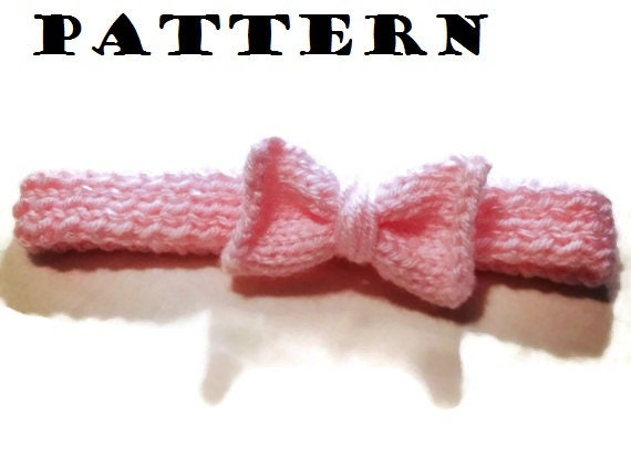 Knitted Headband With Bow Pattern : Knit Bow Headband Pattern