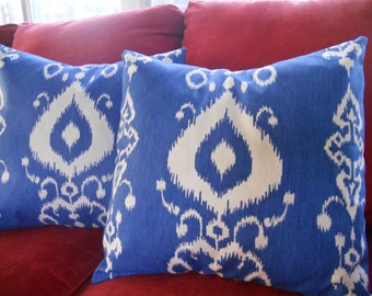 Big Sale !!! Tribal Blue,White Pillow Cover 18x18