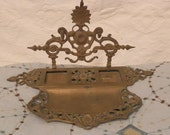 Take 25% Off-- Victorian Inkwell in Solid Brass from History House Antiques Edwardian to Victorian Times Era Late 1800s