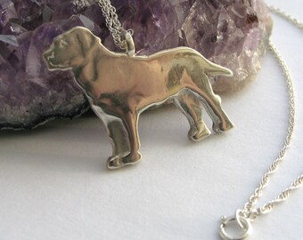 Labrador Dog Sterling Silver  Necklace, Dog Necklace, Hand Made Silver Jewelry, Dog Lovers Gift