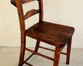 Antique elm church chairs circa 1800