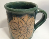 Large coffee mug,  handmade ceramic stoneware mug, large cup good for cold or hot drinks.