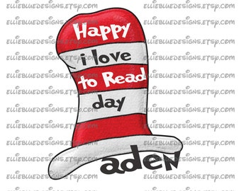 Dr Seuss Day Iron on transfer image - Personalized