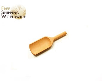 Wooden Measuring Scoop / Shovel SMALL size for all kind of flours, cereals or wheat s from Beech wood - 62