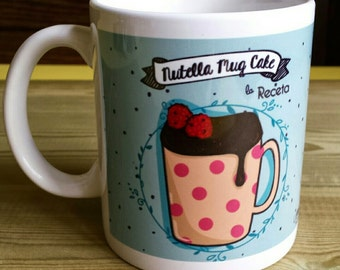 "Mug - ""NUTELLA MUGCAKE"" - with illustrated recipe"