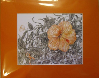 "8x10"" Orange Flower (Leukemia)"