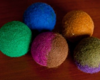 100% Felted Wool Large Dryer Balls - Eco-Friendly Laundry - Upcycled - Cloth diaper safe - Environmentally Friendly