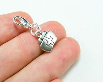 Nurse Charm. RN Nurse Charm. Silver Doctor Gift. Build a Bracelet Charm. SCC266