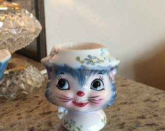July Summer Sale!  5% Off Lefton Anthropomorphic Miss Priss Egg Cup 1950s