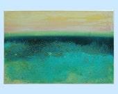"Seacape acrylic landscape painting Contemporary art by M.Schöneberg ""Mixing seacape""24x16x0,75"