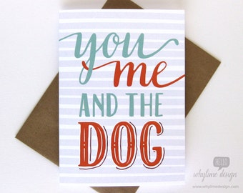 You Me And The Dog Card
