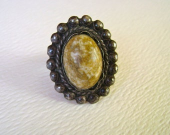 vintage mexican sterling ring, size 7