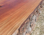 Rustic CHERRY Wood Board.  Cake Stand, Cutting Board. Decoration, Weddings, Showers, Etc. 18 inch.