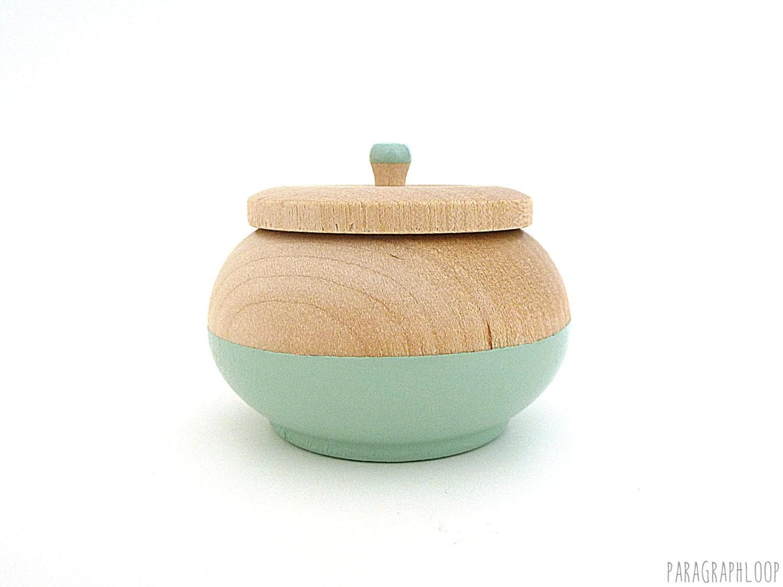 Jewelry box mint green wooden box tiny box round wood box for Circular wooden box