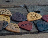 Personalized Guitar Pick, Solid Hardwood, Engraved, Father's Day or Music Lovers Gift