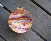 Pomegranate Jupiter Plate - Ceramics and Pottery - Room Decor for Teens - Pottery Dish - Jewelry Tray - Outer Space Decor - Surrealist