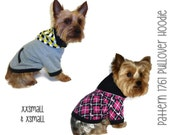 Dog Hoodie Pattern 1761 * XXSmall & XSmall * Dog Clothes Sewing Pattern * Dog Jacket * Dog Sweater * Dog Sweatshirt * Dog Coat Pattern