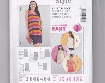 7104 Burda Maternity Shirt & Skirt Sewing Pattern Sizes 10-22 Super Easy