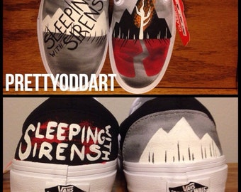 Sleeping with Sirens Hand Painted Shoes/Vans