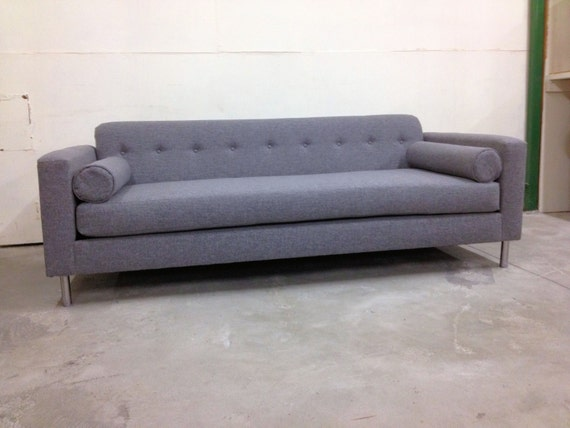 MCM Low Comfortable Sleek Modern Sofa Custom Made W Extra Deep