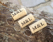 PERSONALIZED Wine Cork Keychain Favors Great for Weddings Parties or Showers