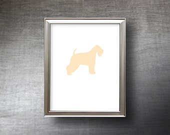 Wheaten Terrier Art 8x10 - UNFRAMED Hand Cut Wheaten Terrier Silhouette Print - 4 Color Choices - Personalized Name or Text Optional