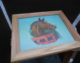 Print of a horse from the 1960's