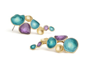 Handmade Earrings : Colorful earrings designed by oBo Creations